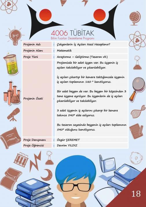 Çokgenlerin İç Açıları Nasıl Hesaplanır? Tübitak 4006 Bilim Fuarı Projesi