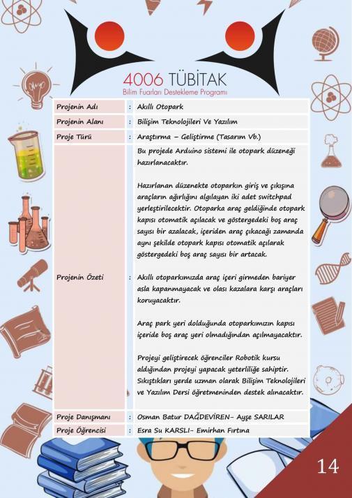 Akıllı Otopark Tübitak 4006 Bilim Fuarı Projesi