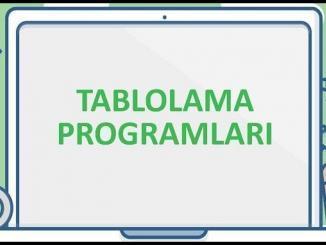 Tablolama Programları Sunumu