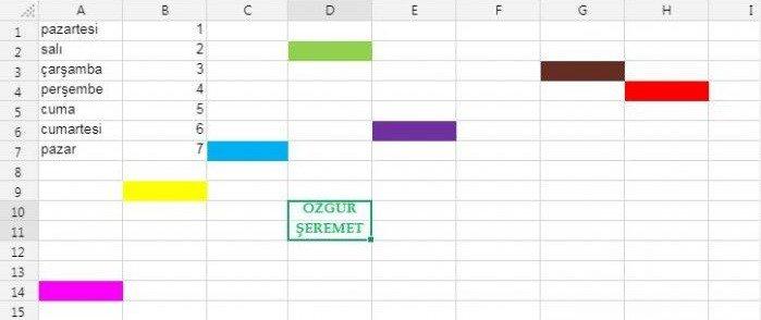 Excel Etkinliği 1 - Sayılarla Oynuyorum