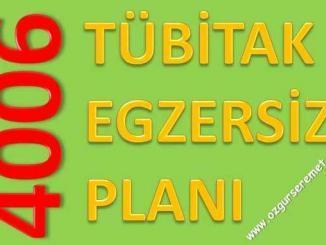 Tübitak 4006 Egzersiz Planı