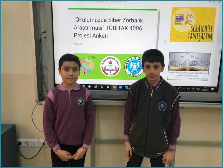 Okulumuzda Siber Zorbalık Araştırması Tübitak 4006 Bilim Fuarı Projesi