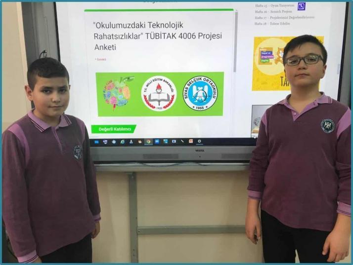 Okulumuzdaki Teknolojik Rahatsızlıklar Tübitak 4006 Bilim Fuarı Projesi