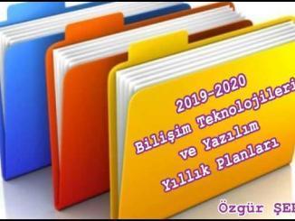 Bilişim Teknolojileri ve Yazılım Yıllık Plan