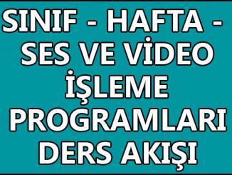 Ses ve Video İşleme Programları