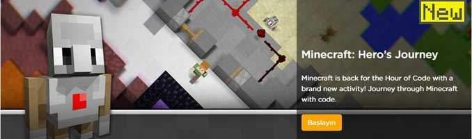 Code.org Minecraft Kod Saati