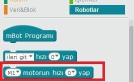 mBot Projeleri - Robotlar Motor Kontrolü