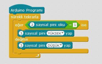 Arduino Buton ile Led Yakma Kodları