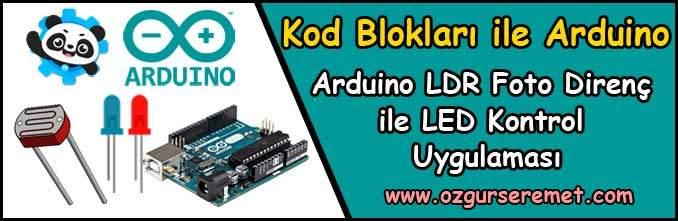 Arduino LDR Foto Direnç Uygulaması