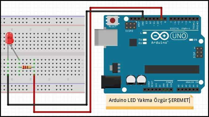 Arduino Led Yakma Etkinliği