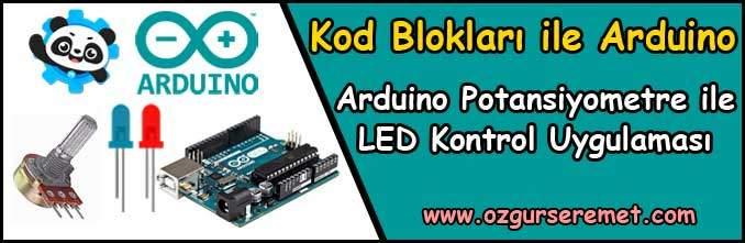 Arduino Potansiyometre ile LED Kontrol Uygulaması