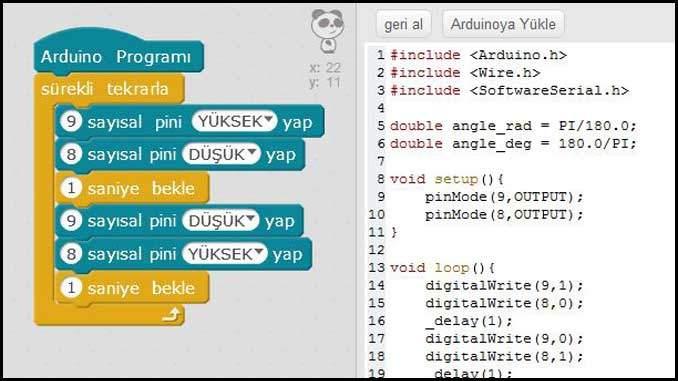 Arduino-Yan-Sön-Sön-Yan-Uygulaması Kodları