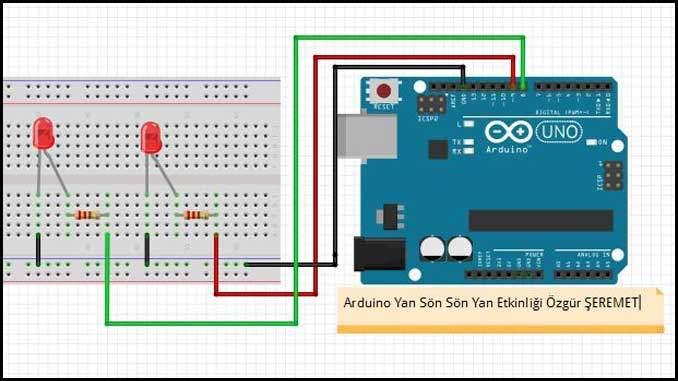 Arduino Yan Sön Sön Yan Uygulaması