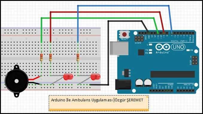 Arduino ile Ambulans Devresi