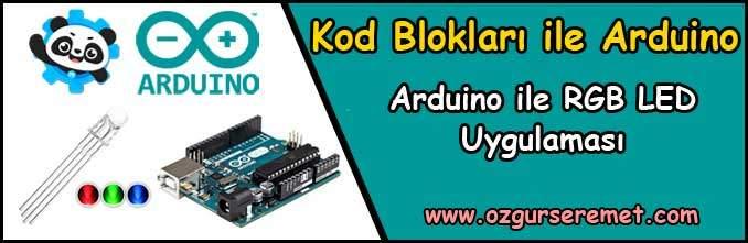 Arduino ile RGB LED Uygulaması