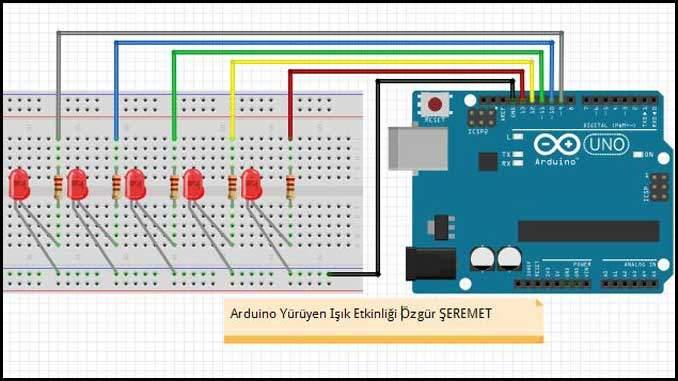 Arduino ile Yürüyen Işık Devresi