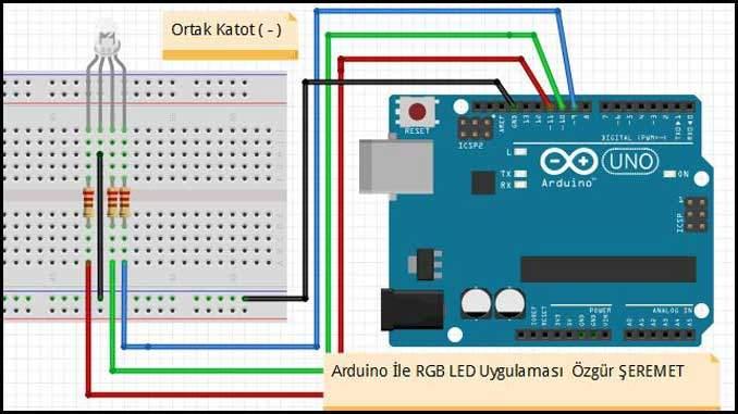 Arduino ile RGB LED Devresi