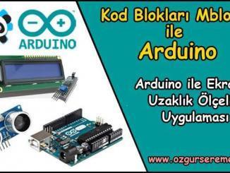 Arduino LCD Ekranda Uzaklık Ölçelim Uygulaması