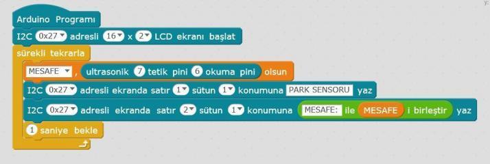 Arduino LCD Ekranda Uzaklık Ölçelim Uygulaması Kodları