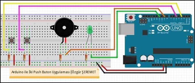 Arduino ile İki Buton Devresi