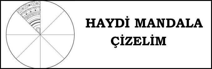 Haydi Mandala Çizelim Çalışma Kağıdı