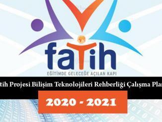 Fatih Projesi Bilişim Teknolojileri Rehberliği Çalışma Planı